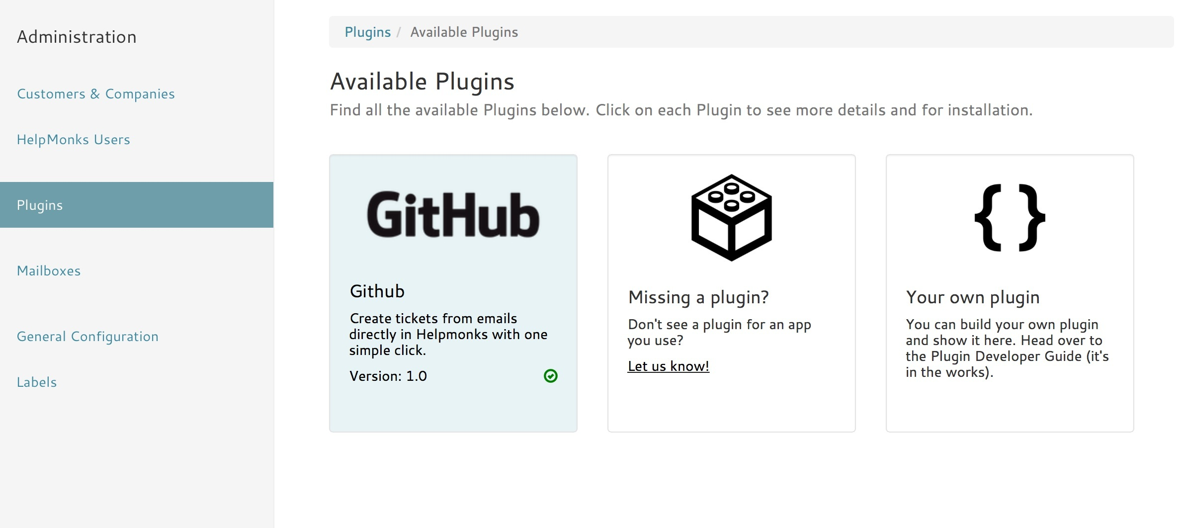 How to configure the Github plugin - How-Tos - Helpmonks Help